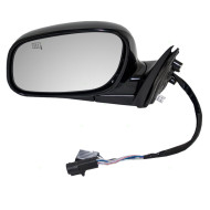 Picture of 98-02 Lincoln Town Car New Drivers Power Side View Mirror Glass Housing Heated Memory Smooth Assembly