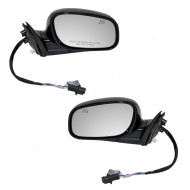 Picture of 98-02 Lincoln Town Car New Pair Set Power Side Mirror Glass Housing Heated Memory Smooth Assembly