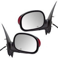Picture of 00-02 Ford Expedition Lincoln Navigator New Pair Set Power Side View Mirror Heated Memory Signal