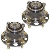 Acura TSX Honda Accord New Pair Set Rear Wheel Hub Bearing Assembly Aftermarket Replacement