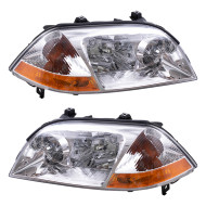 Picture of 01-03 Acura MDX New Pair Set Headlight Headlamp Lens Housing Assembly DOT Aftermarket Replacement