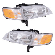 Picture of 94-97 Honda Accord New Pair Set Headlight Headlamp Lens Housing Assembly DOT