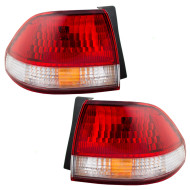 Picture of 01-02 Honda Accord New Pair Set Taillight Taillamp Quarter Panel Mounted Lens Housing Assembly DOT