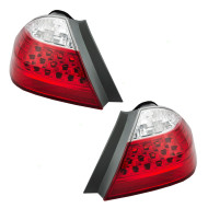 Picture of 06-07 Honda Accord Hybrid New Pair Set Taillight Taillamp White & Red Lens Housing DOT