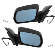 Picture of 01-06 Acura MDX New Pair Set Power Side View Mirror Glass Housing Heat Heated Smooth