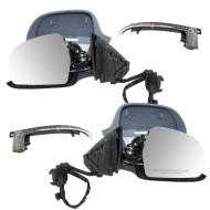 09-13 Audi A3 New Pair Set Power Side View Mirror Glass Housing Heated Signal w/ Power Folding