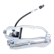 Picture of 00-06 BMW X5 New Drivers Rear Outside Exterior Door Handle Carrier Housing w/ Base & Cable