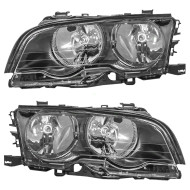 Picture of 00-01 BMW 3 Series New Pair Set Halogen Headlight Headlamp Lens Housing Assembly DOT