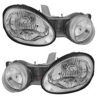 Picture of 00-01 Kia Spectra New Pair Set Dual Headlight Headlamp Lens Housing Assembly DOT