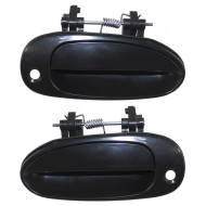 Picture of 01 Kia Sephia & 00-01 Spectra New Pair Set Front Outside Outer Exterior Door Handle w/ Keyhole