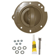 02-04 Jeep Liberty New Drivers Inside Interior Inner Taupe Door Handle & Taupe Housing Repair Kit Assembly