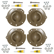 02-04 Jeep Liberty New 4 Piece Set Inside Interior Inner Taupe Door Handle & Taupe Housing Repair Kit