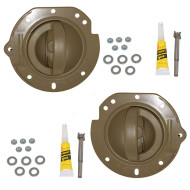 02-04 Jeep Liberty New Pair Set Inside Interior Inner Taupe Door Handle & Taupe Housing Repair Kit Assembly