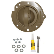 02-04 Jeep Liberty New Passengers Inside Interior Inner Taupe Door Handle & Taupe Housing Repair Kit Assembly