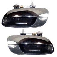 01-06 Hyundai Elantra New Pair Set Outside Exterior Rear Door Handle Chrome Lever w/ Black Housing Assembly