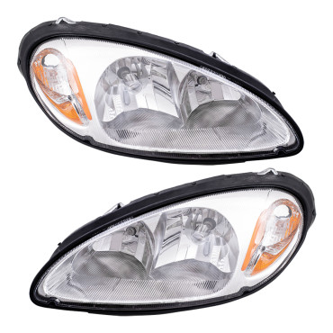Picture of 01-05 Chrysler PT Cruiser New Pair Set Headlight Headlamp Lens Housing Assembly DOT