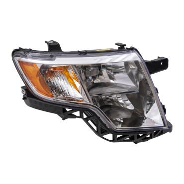 Ford Edge Passengers Headlight Assembly Chrome Bezel