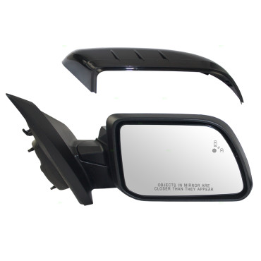 Ford Edge Passengers Side View Power Mirror Heated Memory Puddle Lamp W Blind Spot Detection