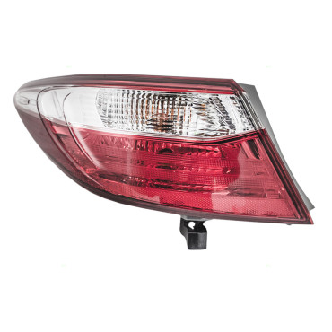 Picture of 15 16 17 Toyota Camry & Hybrid New Drivers Taillight Tail Lamp Red & Clear Quarter Panel Mounted Lens Assembly