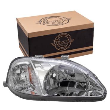 99 00 Honda Civic Passengers Headlight Assembly