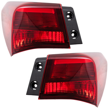 New Pair Set Taillights Quarter Panel Mounted Tail Lamp Housing Assembly 15-17 Acura TLX