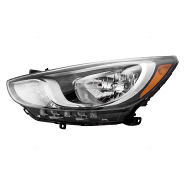 Picture of 12 13 14 Hyundai Accent New Drivers Halogen Headlight Headlamp Lens Housing Assembly