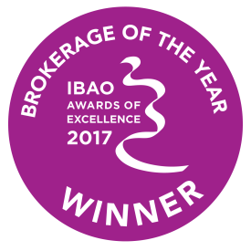 IBAO Brokerage of the Year 2017 badge