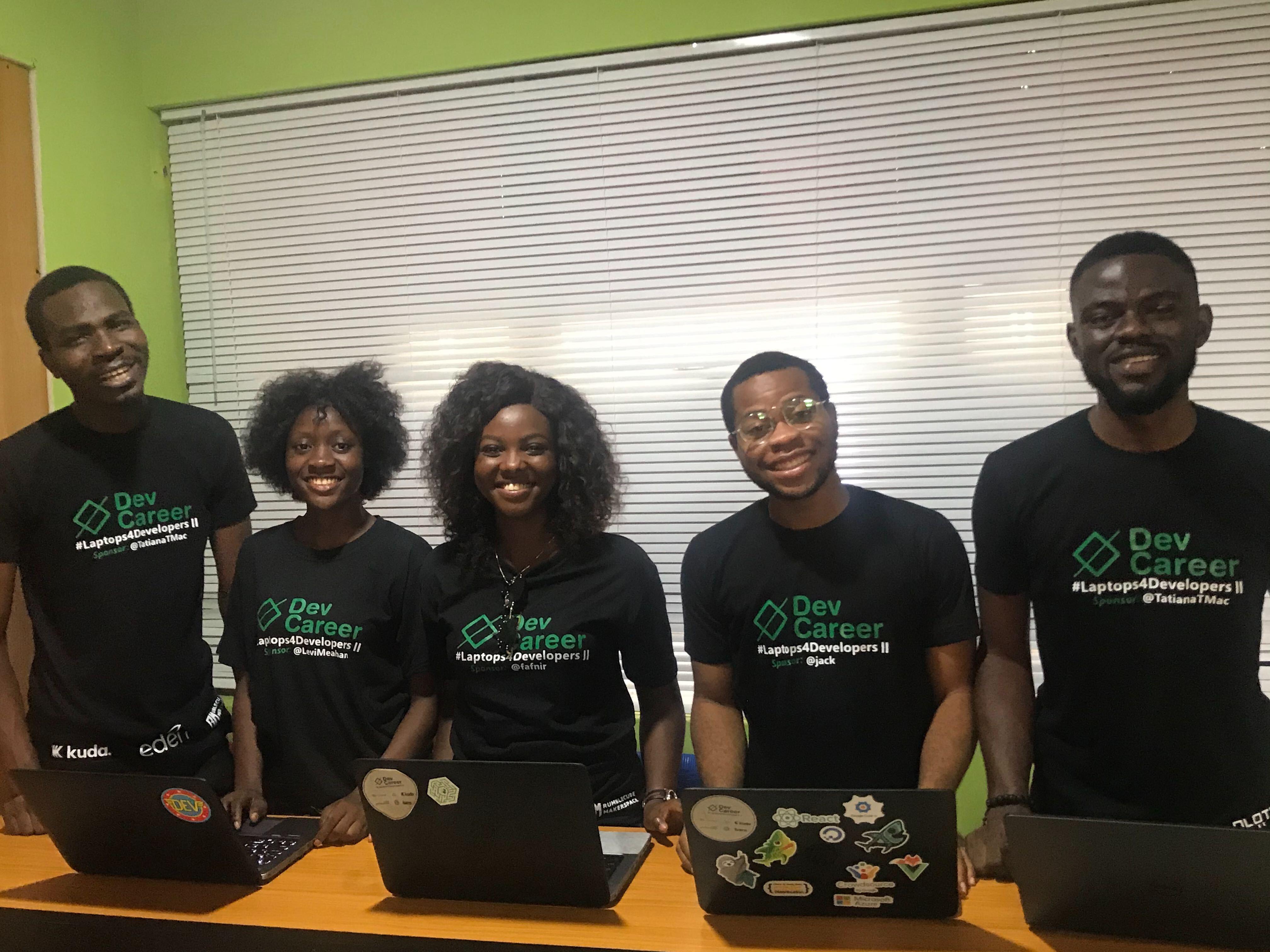 Cohort II interns at Rumblescube Hub, Ibadan