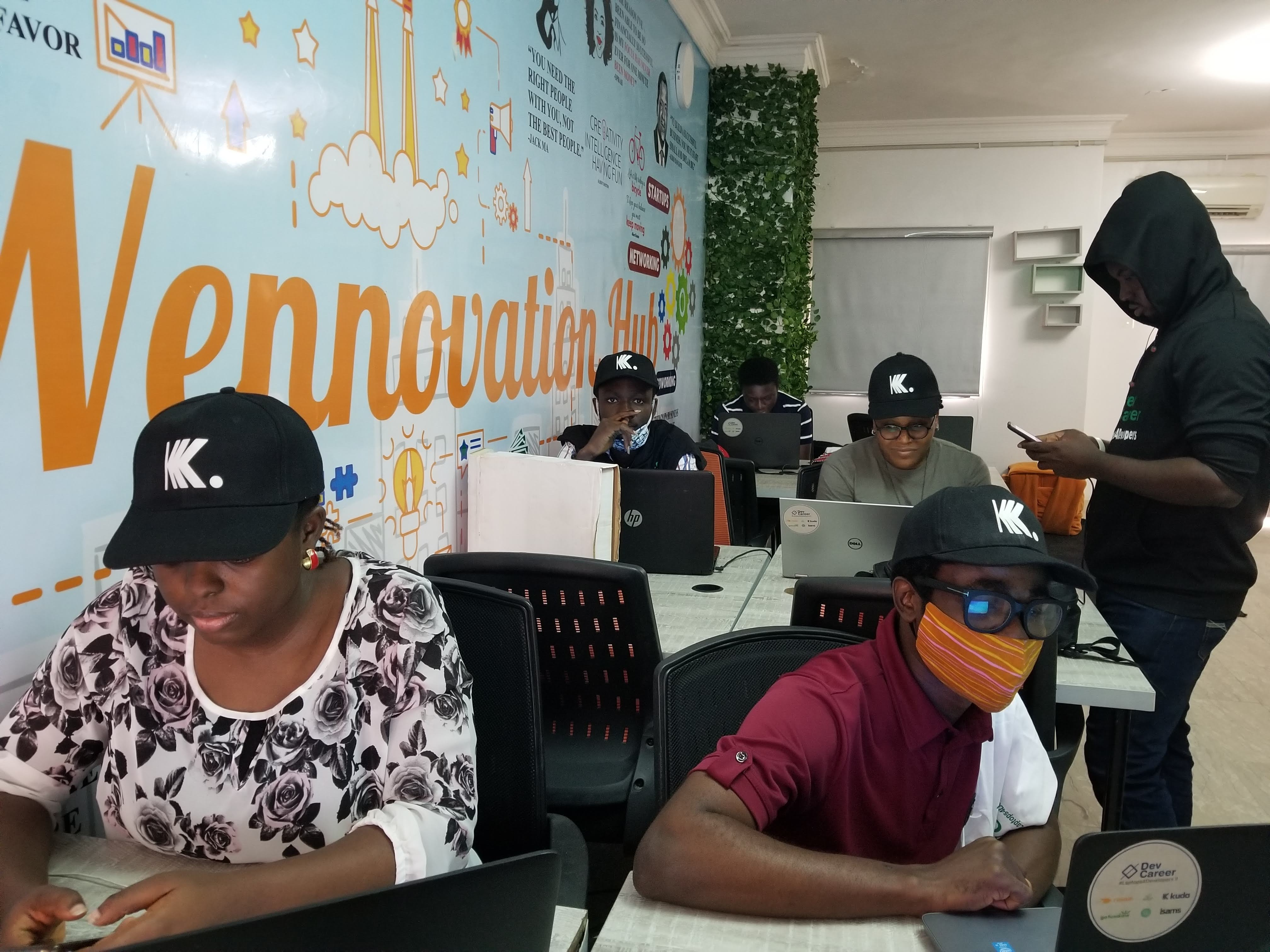 Cohort I interns at Wennovation Hub, Lagos