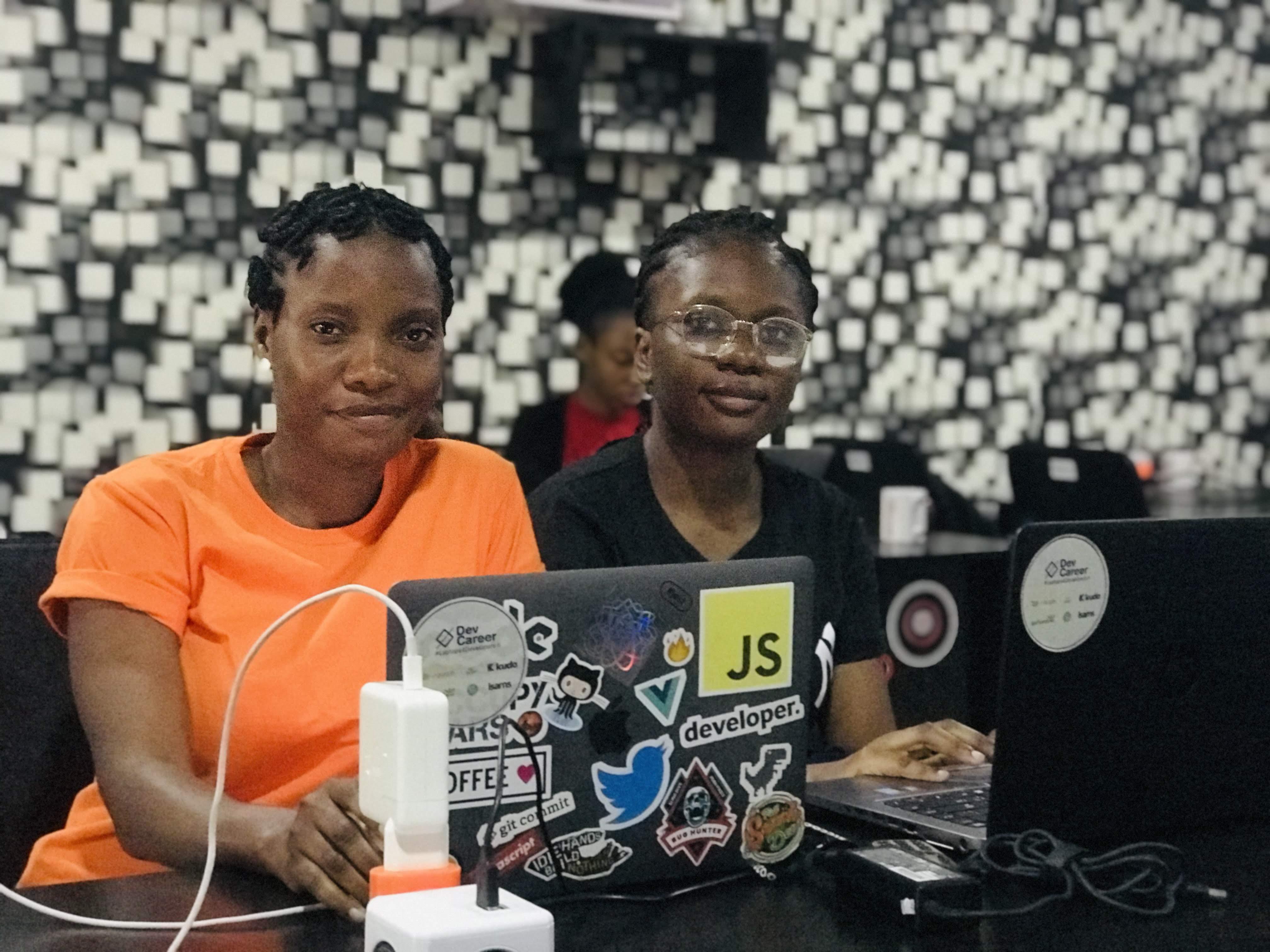 Cohort II interns at AimToget Hub, Ibadan
