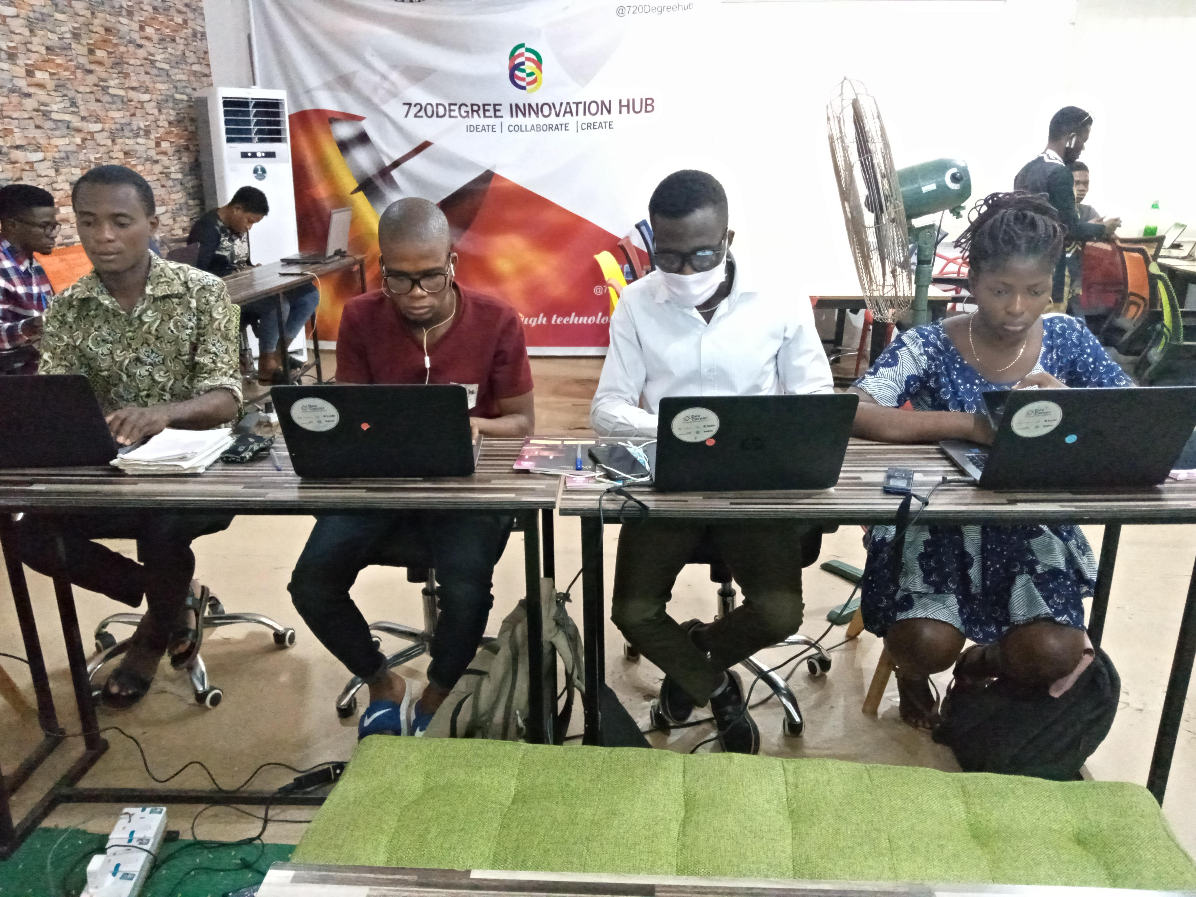 Cohort II Interns at 720 Degree Hub Ogun State