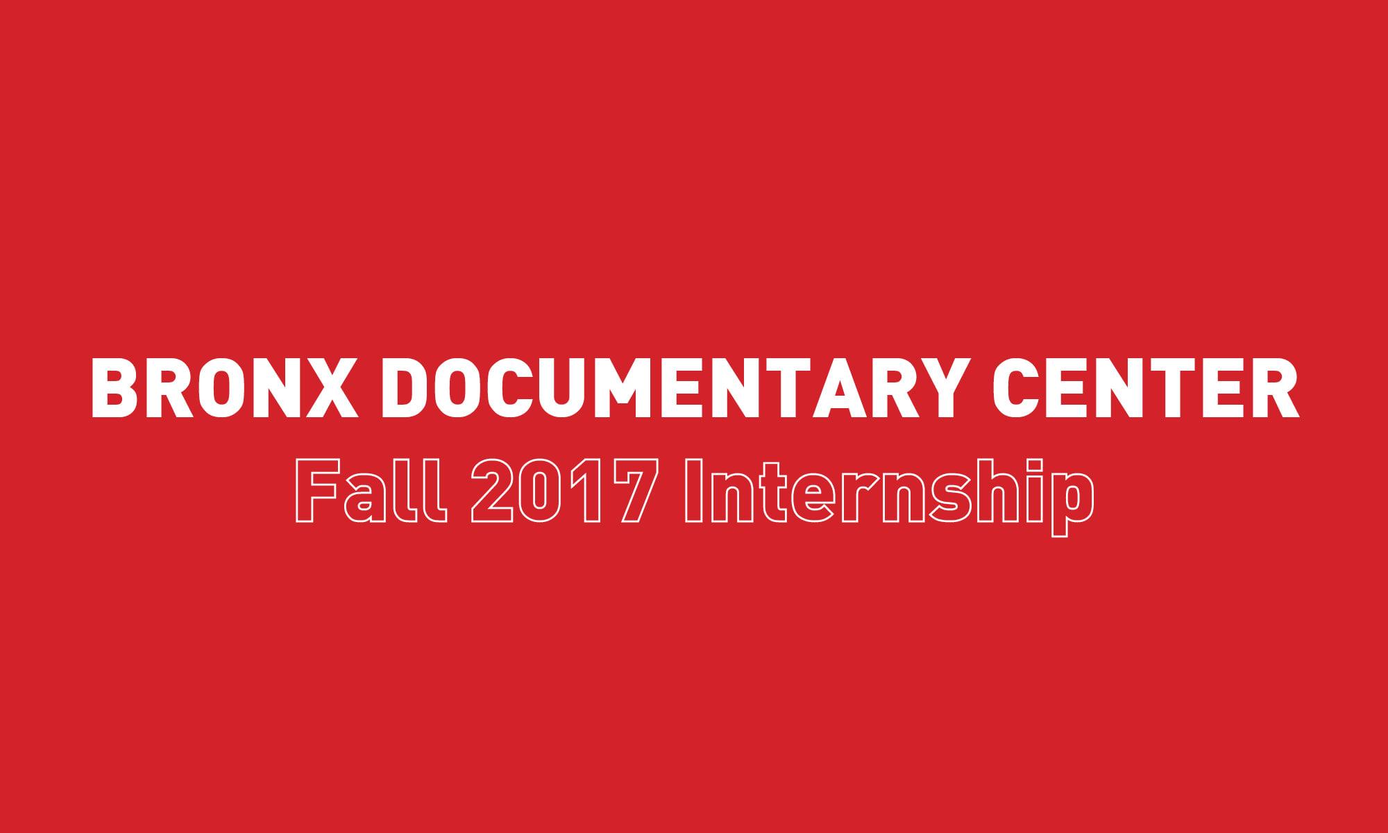 Fall 2017 Internship