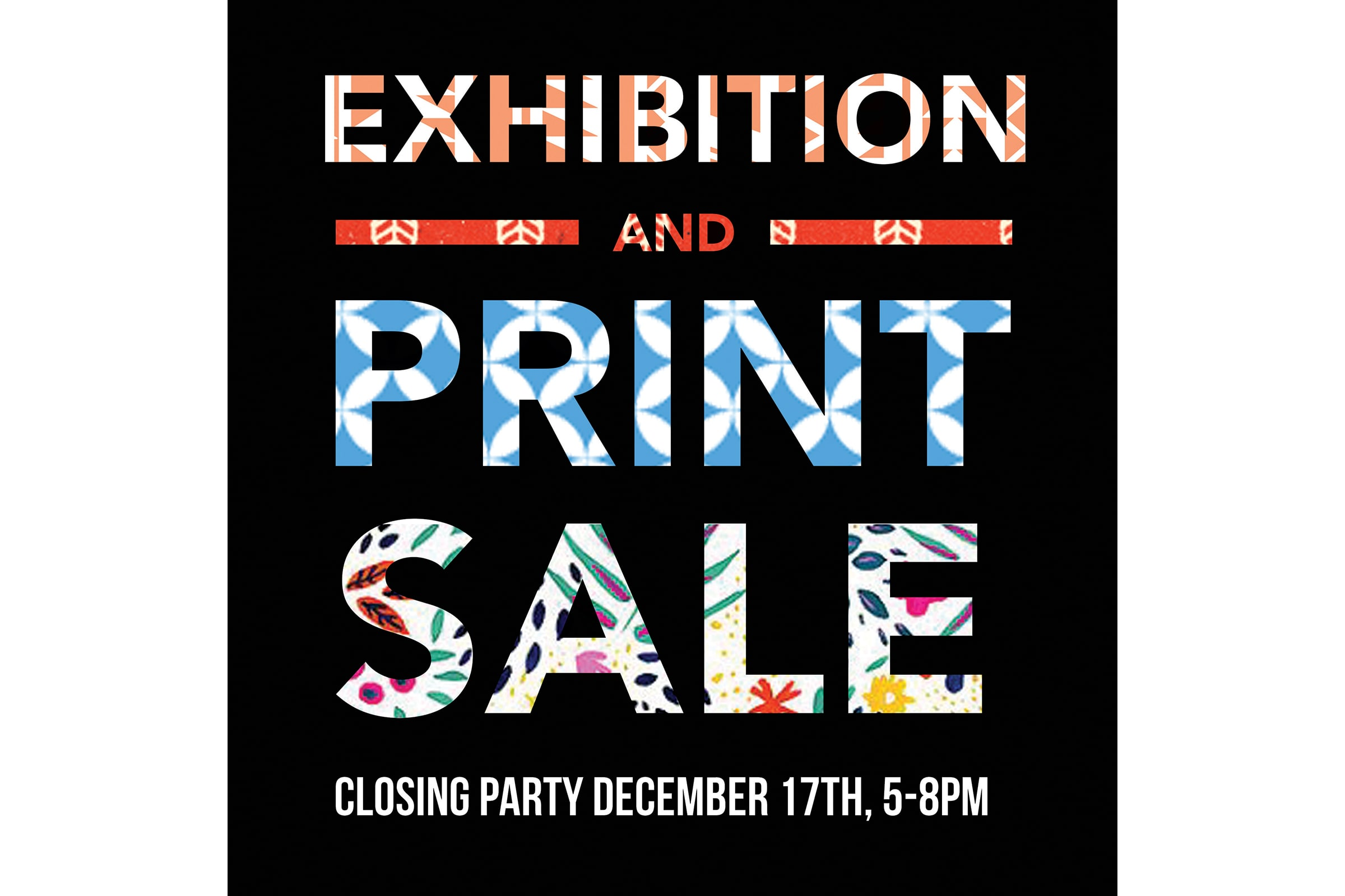 Exhibition and Holiday Print Sale
