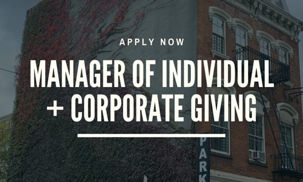 The BDC is Hiring a Manager of Individual and Corporate Giving