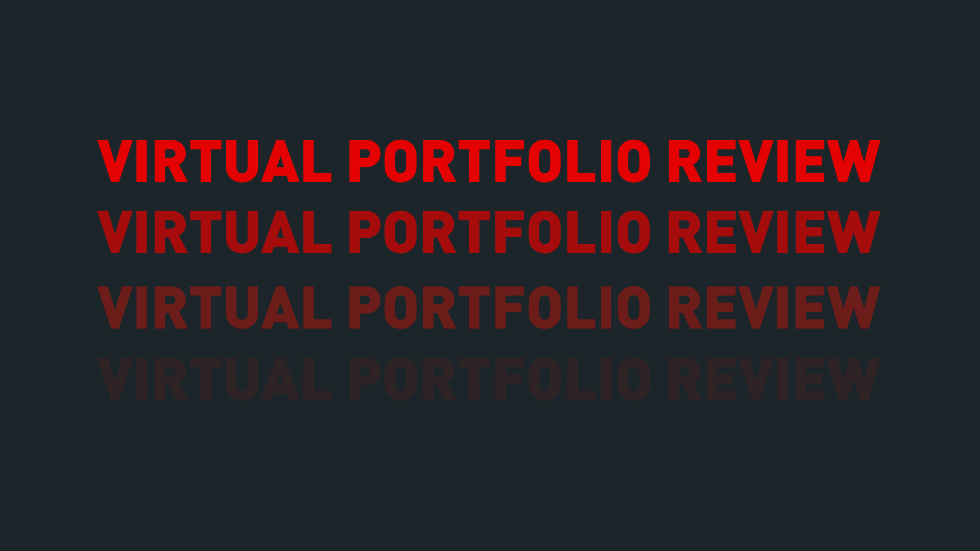 Virtual Portfolio Review