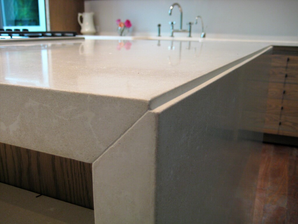 Waterfall Style Concrete Tops Brooks Custom