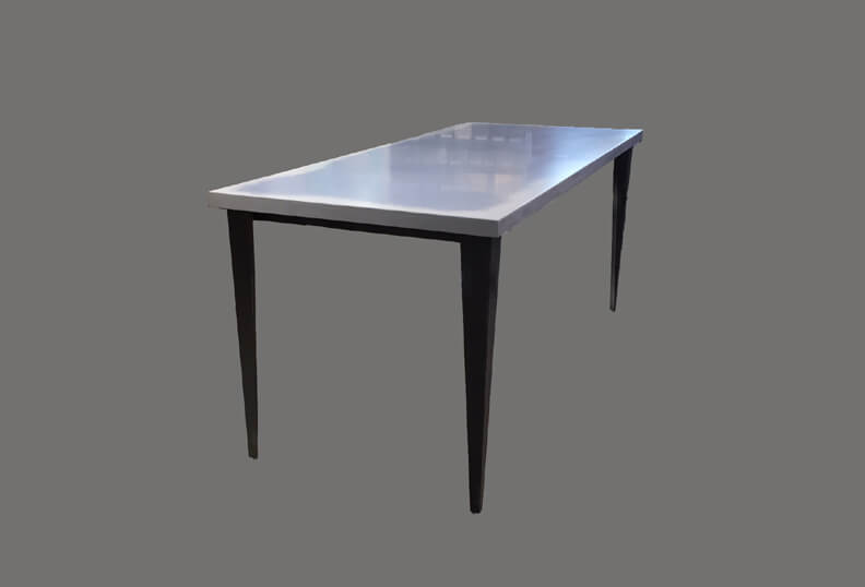 Concrete Table Top with Steel Table Base