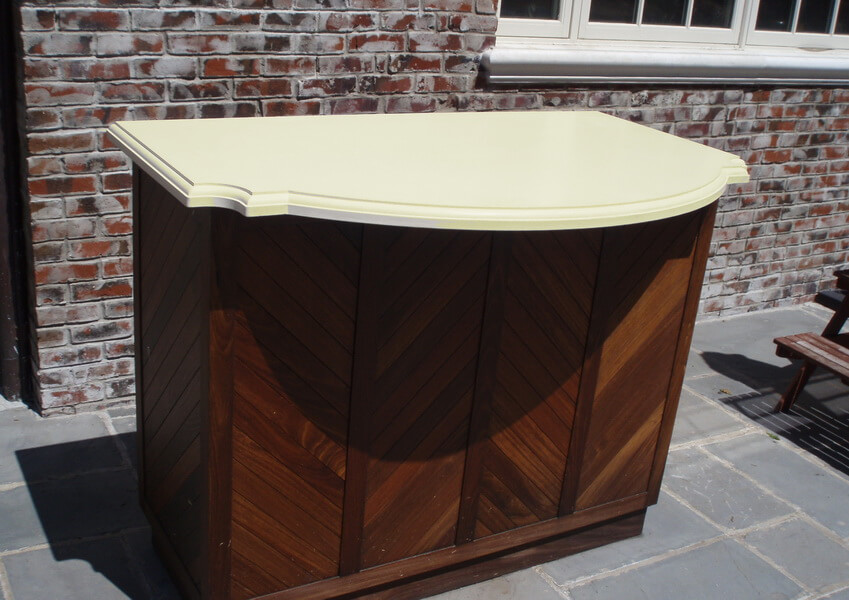 White Concrete Outdoor Kitchen Island