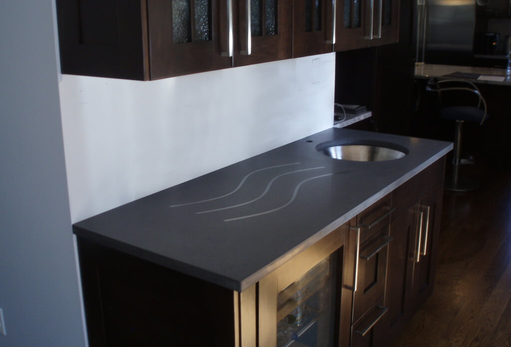 Gray Verdicrete Concrete Countertops