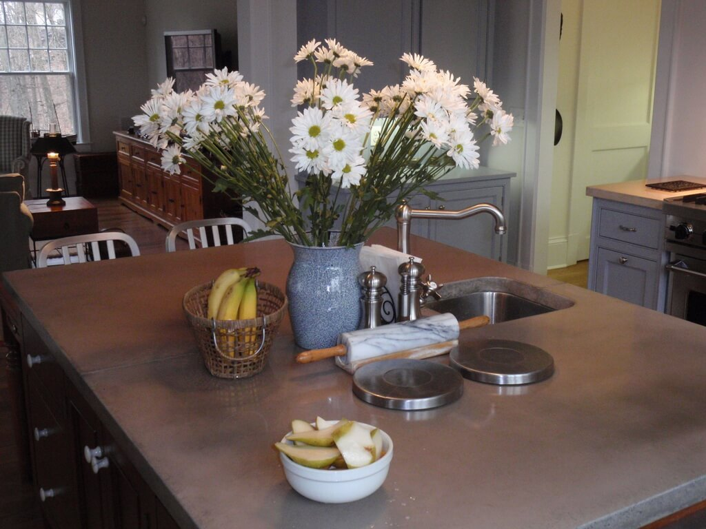 kitchen island concrete countertop - Kitchen Island Countertop