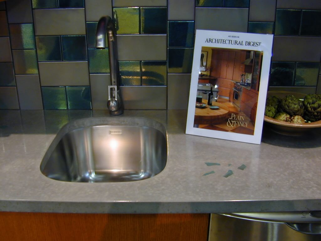Concrete Countertop Display with Undermount Sink