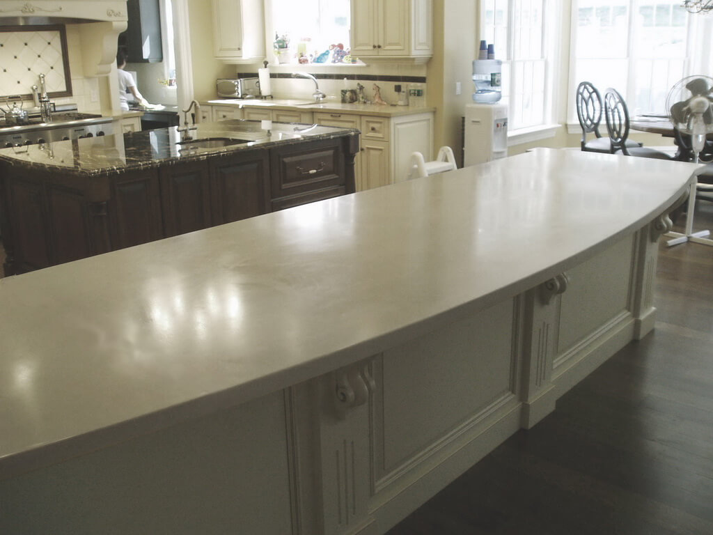 Engineered Concrete Peninsula Countertop