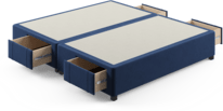 Storage bed base with drawers