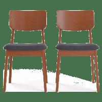 Mokuzai [木] Set of 2 Dining Chairs