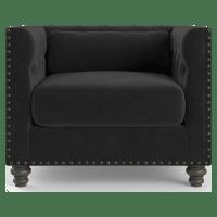 Florence Velvet Chesterfield Armchair