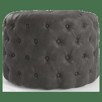 Marken Small Leather Ottoman