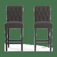 Espen® Leather Set of 2 Bar Stools