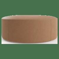 Alexa Large Leather Round Ottoman
