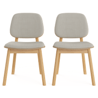 Matsumura Cushioned Set of 2 Dining Chairs
