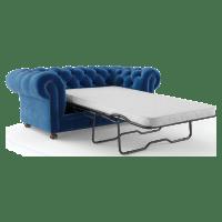Notting Hill Velvet Chesterfield 2 Seater Sofa Bed